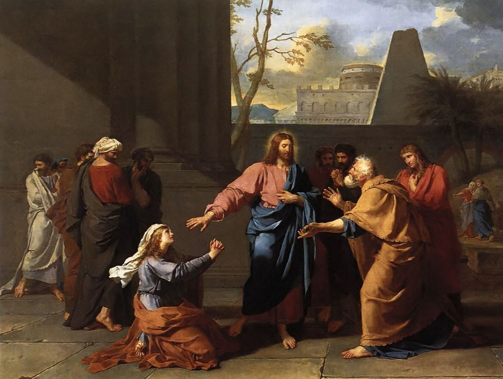 Christ and the Canaanite Woman - c.1784 by Germain-Jean Drouais