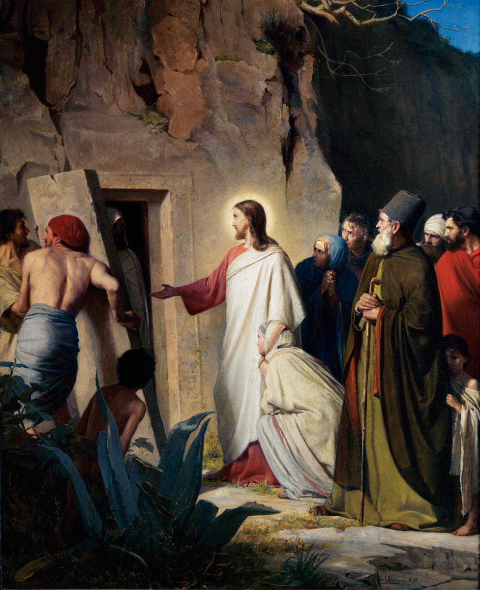 BN May 20 Raising of Lazarus by Carl Bloch