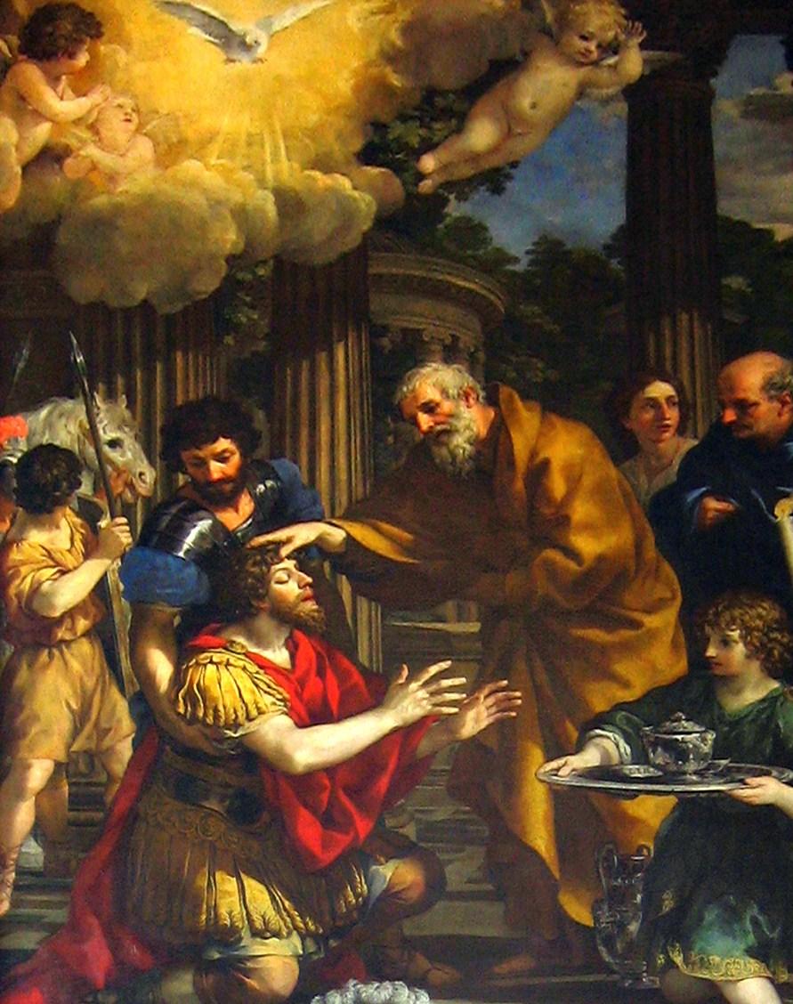 BN May 27 Ananias Restoring the sight of St. Paul by Pietro da Cortona