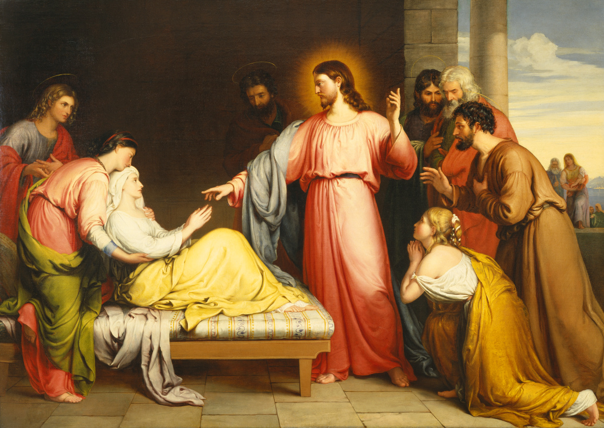 BN July 15 Christ Healing the Mother of Simon Peter's Wife by John Bridges
