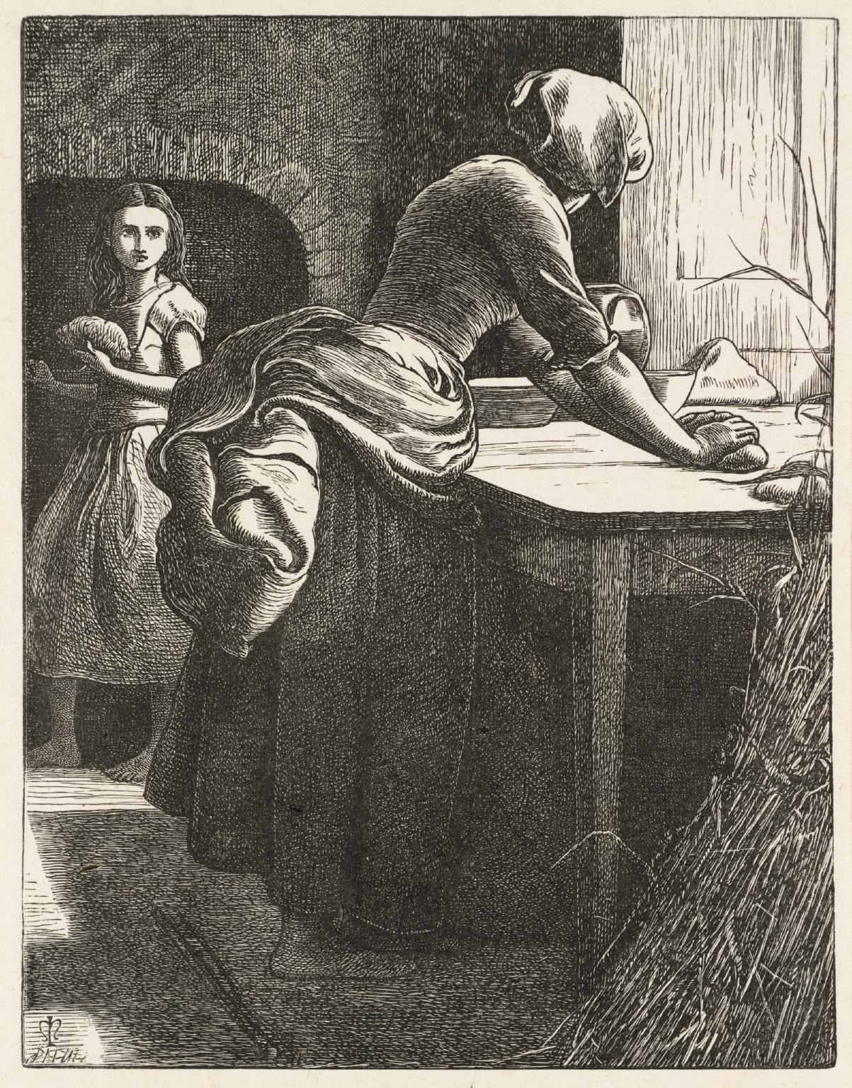 The Leaven published 1864 by Sir John Everett Millais, Bt 1829-1896
