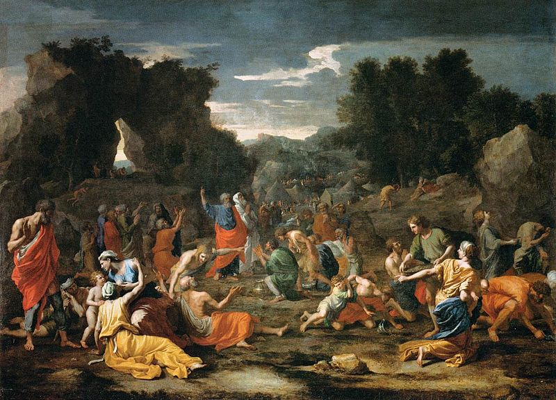 BN July 22 The Jews Gathering the Manna in the Desert by Nicolas Poussin