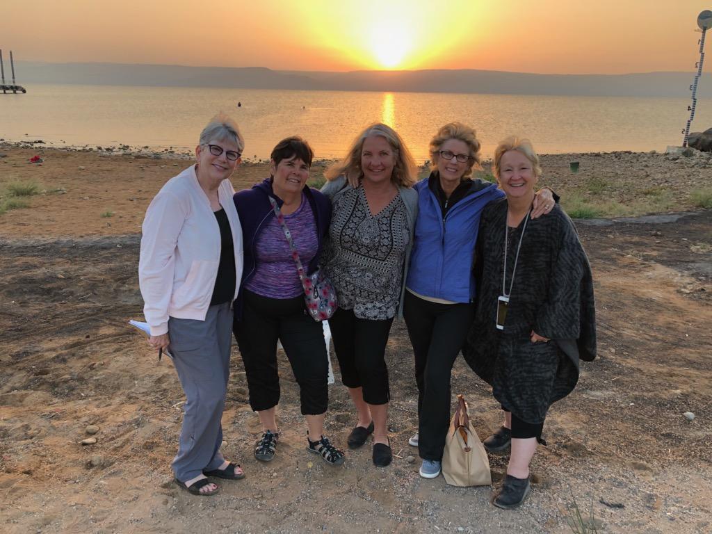 Sea of Galilee sunrise_people