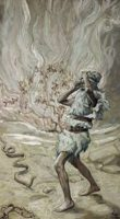 BN Aug 25 Moses Rod is Turned into a Serpent by James J Tissot