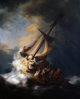 BN Dec 8 The Storm on the Sea of Gailiee by Rembrandt