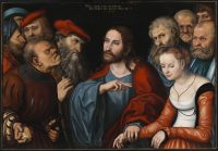 Lucas Cranach the Elder.Jesus.adulteress woman.Jan19