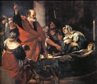 BN July 21 Raising of Tabitha by Giovanni Francesco Guercino copy